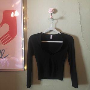 American apparel crop long sleeve